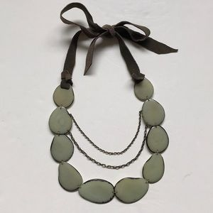 Anthropologie Andean Collection Tagua Necklace